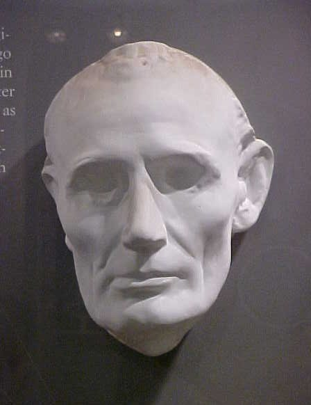 Life mask of Abraham Lincoln.