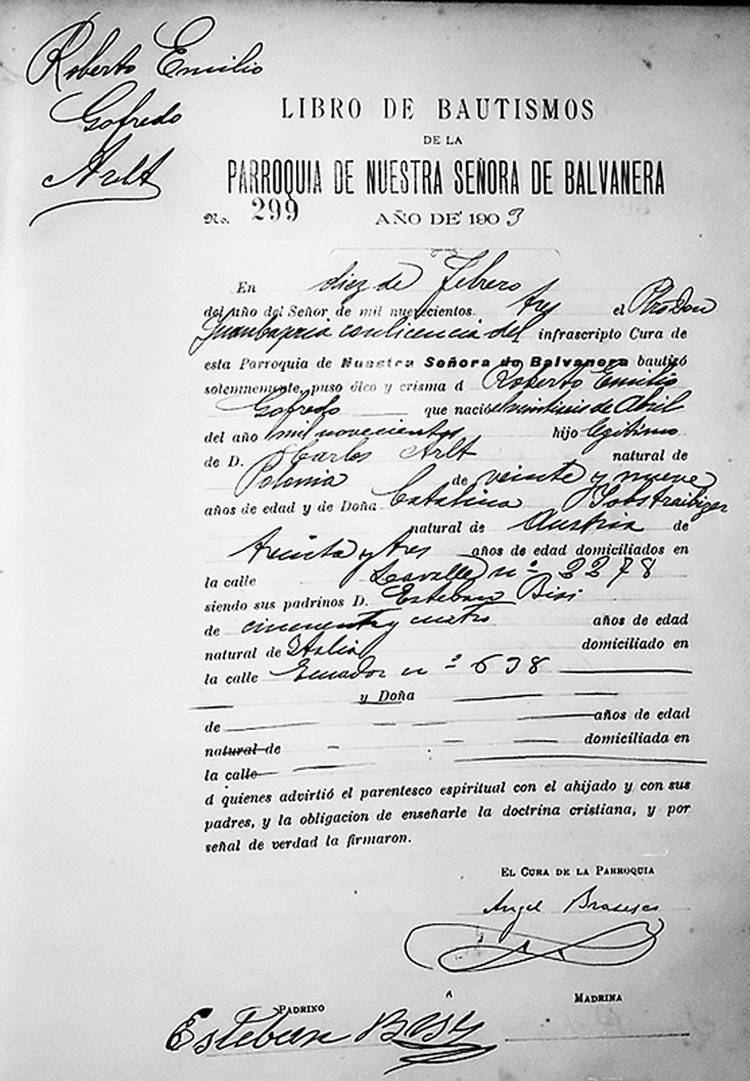 Partida De Matrimonio Catolico En Colombia : File acta de bautismo roberto arlt g wikimedia commons