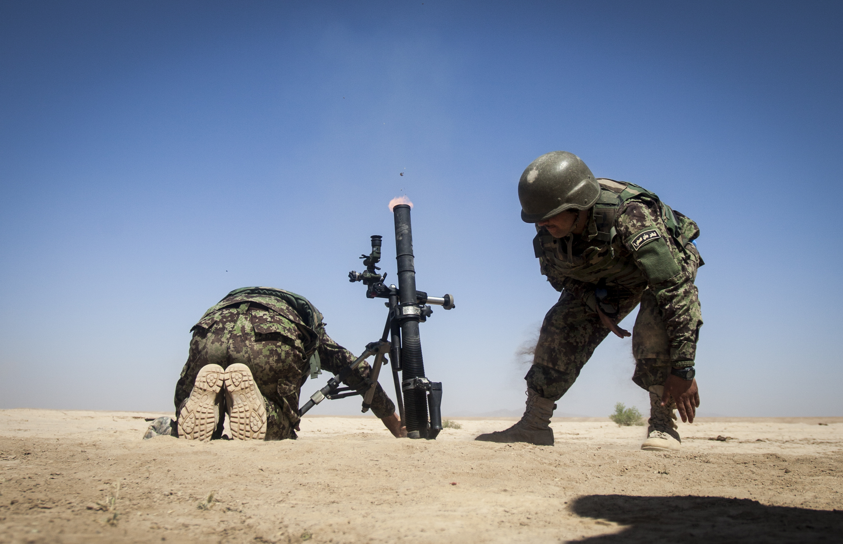 Mortar High Explosive Round : File afghan national army soldiers with the th corps