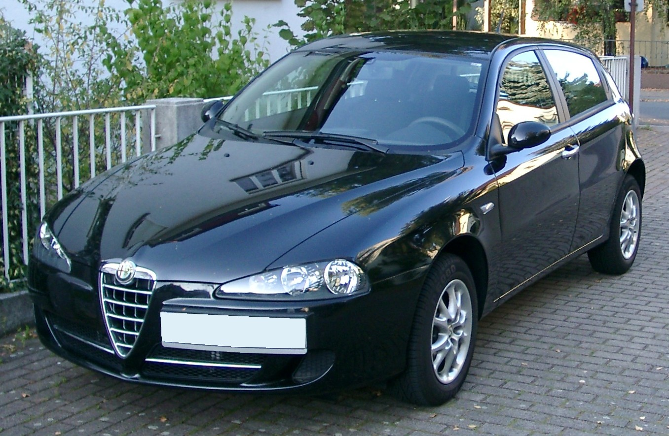 file alfa romeo 147 front wikimedia commons. Black Bedroom Furniture Sets. Home Design Ideas