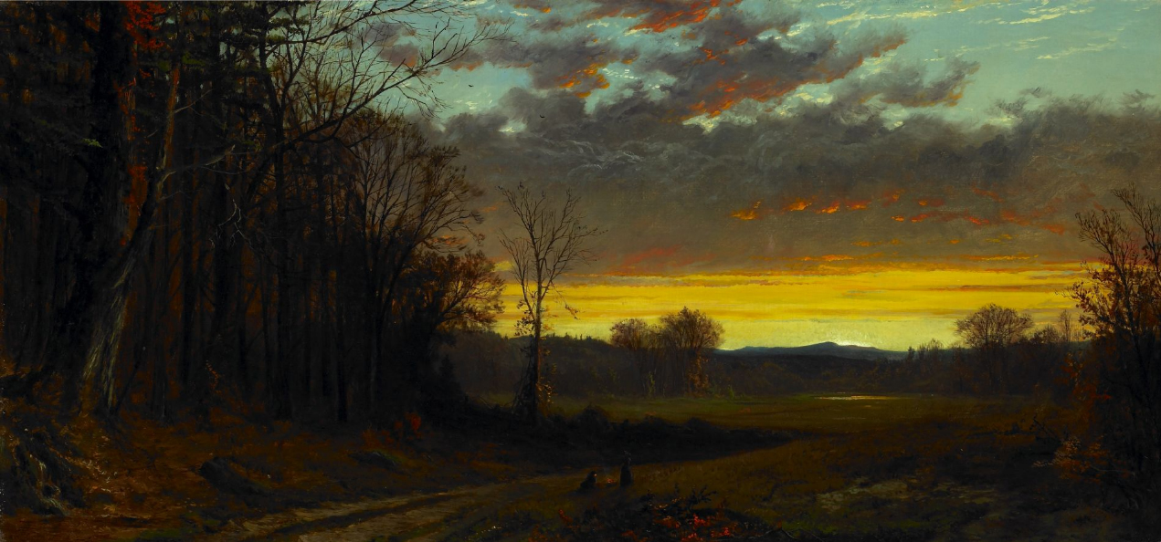 twilight in the wilderness Frederic edwin church was a direct descendant of richard church, who was a puritan pioneer from england who accompanied thomas hooker on the original journey through the wilderness from massachusetts to what would become hartford, connecticut.