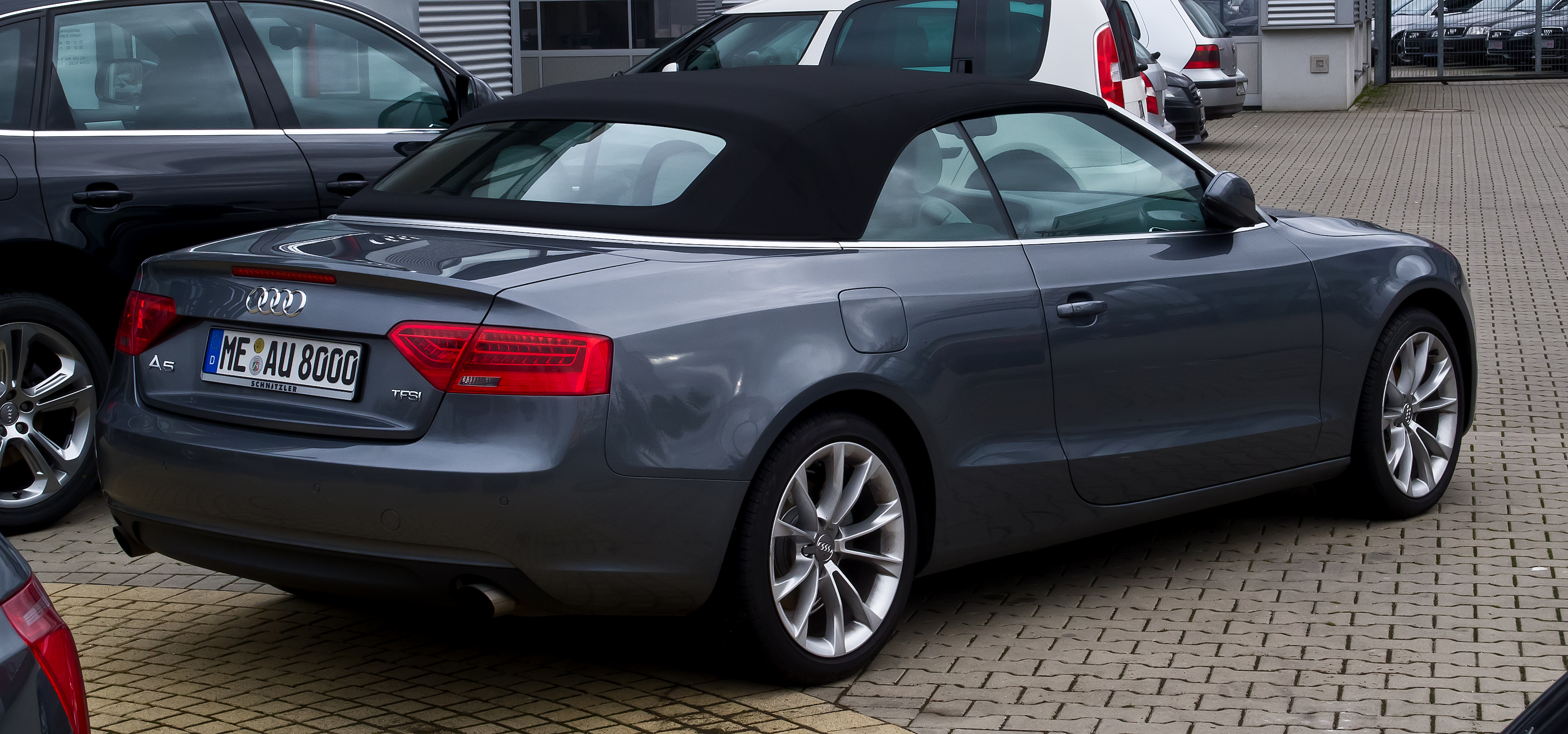 file audi a5 cabriolet tfsi facelift heckansicht 31 dezember 2012 wikimedia. Black Bedroom Furniture Sets. Home Design Ideas