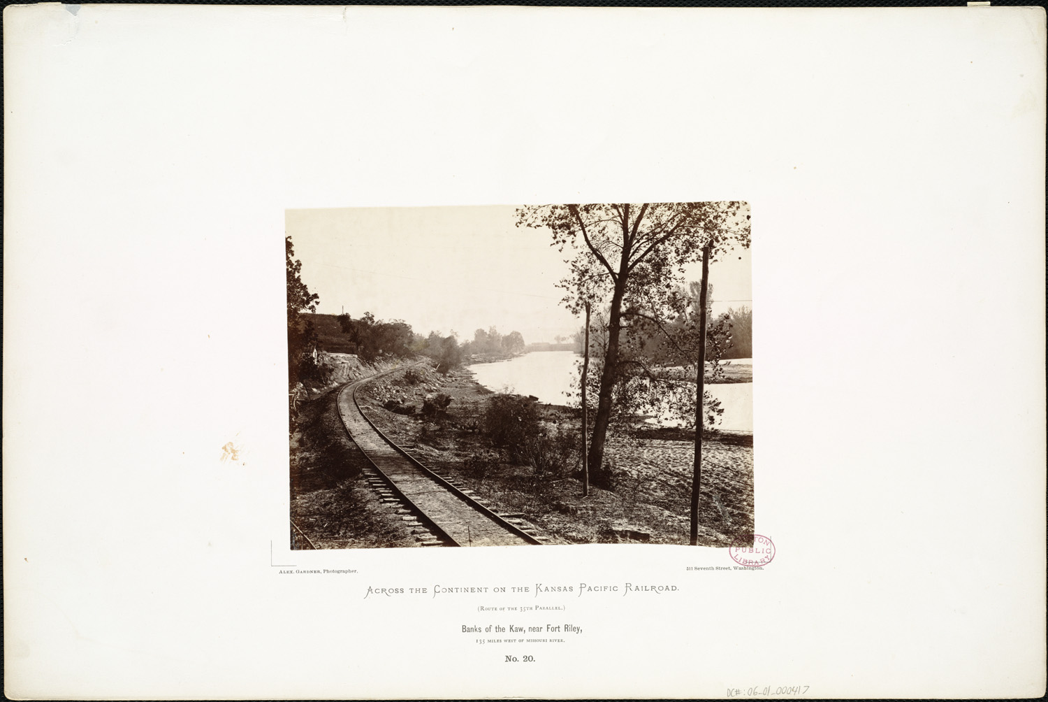 Banks of the Kaw, near Fort Riley, 135 miles west of Missouri River. (Boston Public Library).jpg