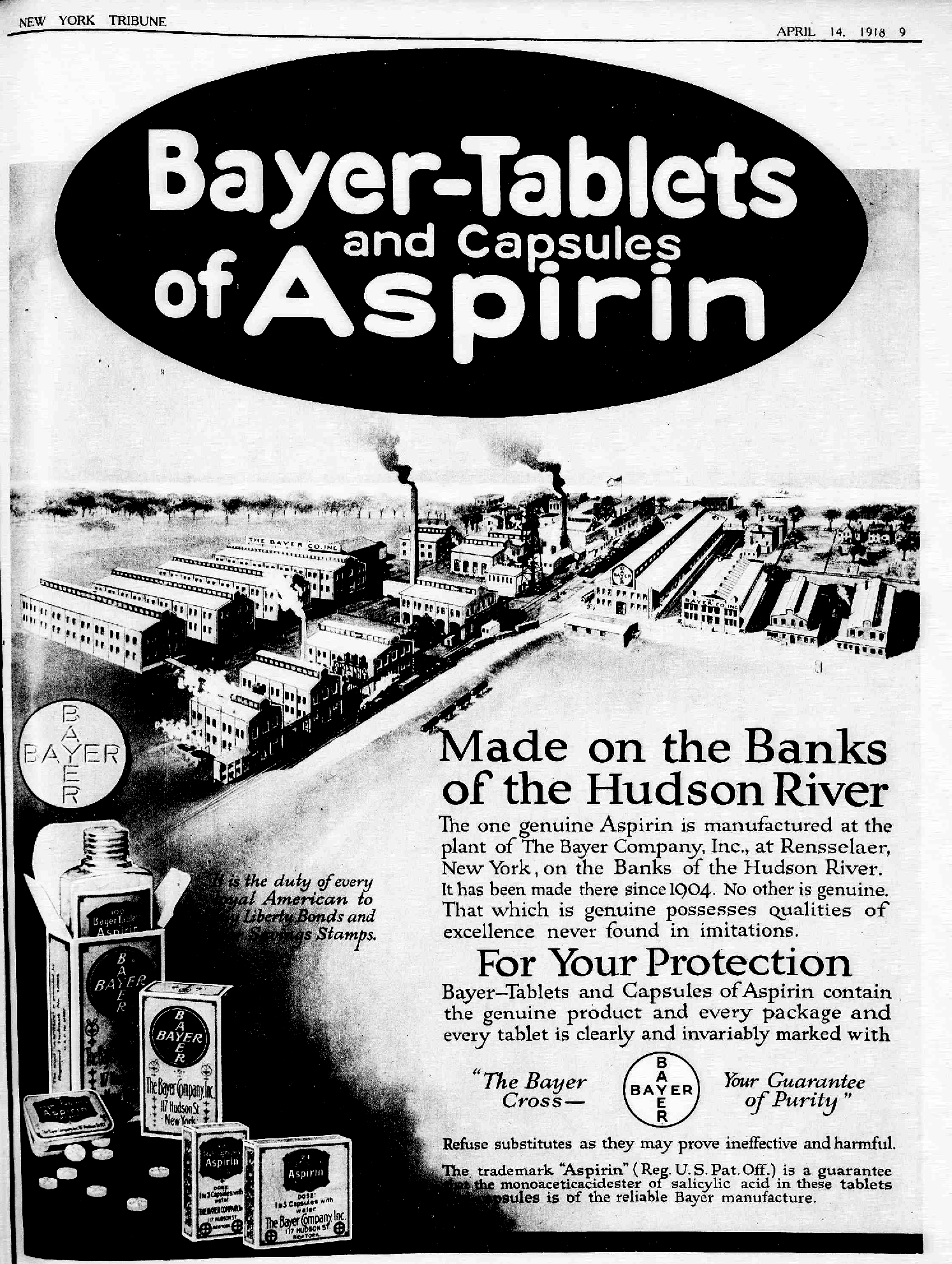 File:Bayer-Tablets of Aspirin ad 1918.png - Wikimedia Commons