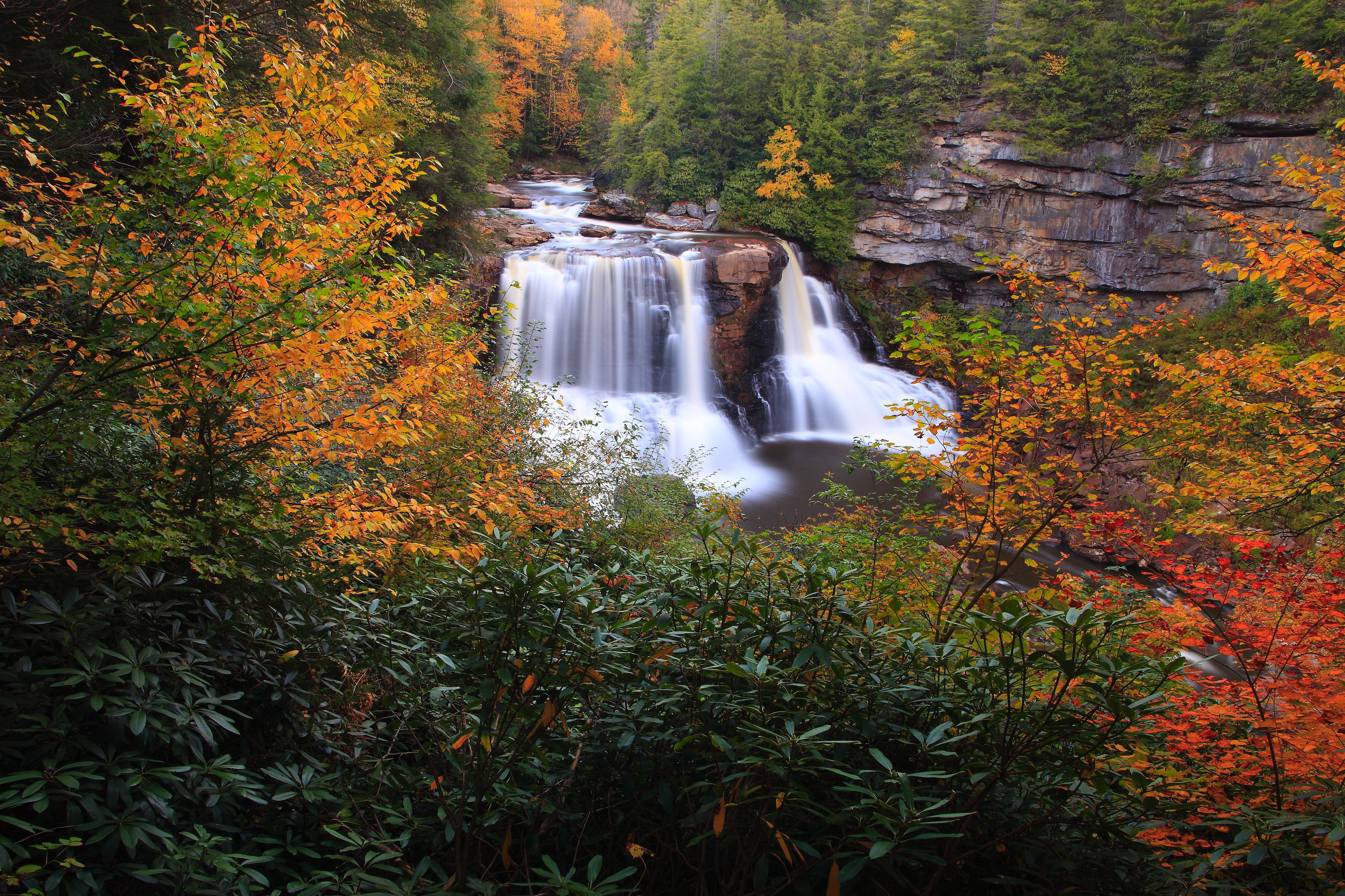 File Blackwater Falls Autumn Foliage Scenery West