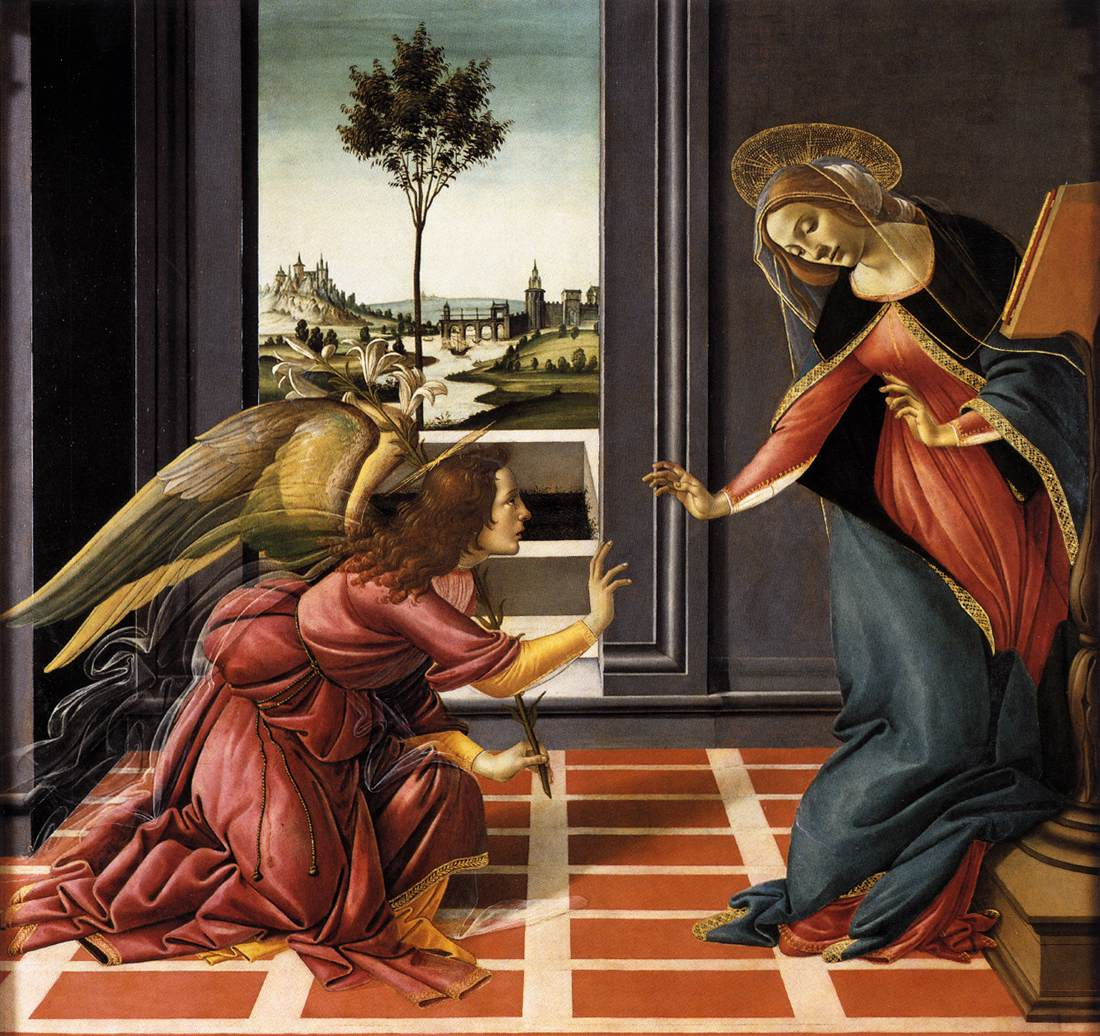 http://en.wikipedia.org/wiki/Cestello_Annunciation_(Botticelli)
