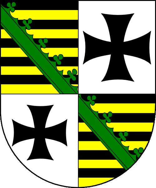 Keresztély Ágost (Christian August von Sachsen-Zeitz) címere