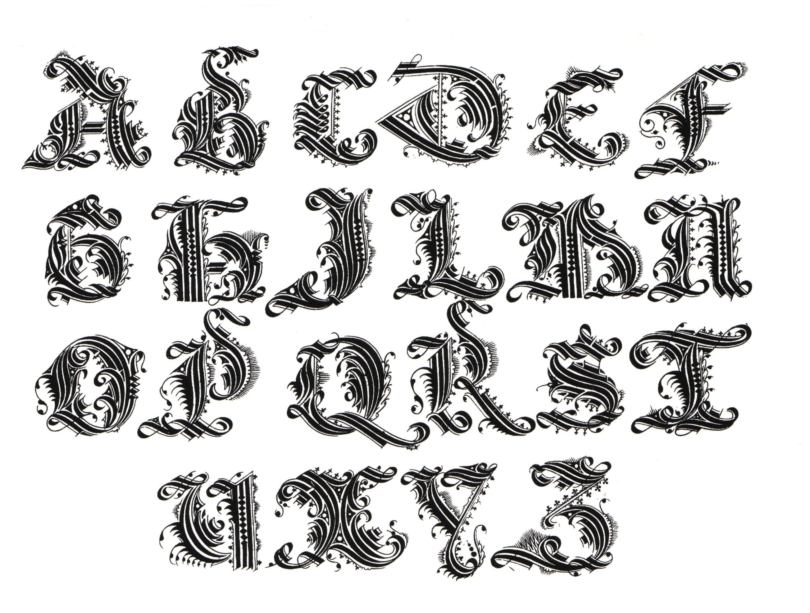Alphabet Letters Designs Girls