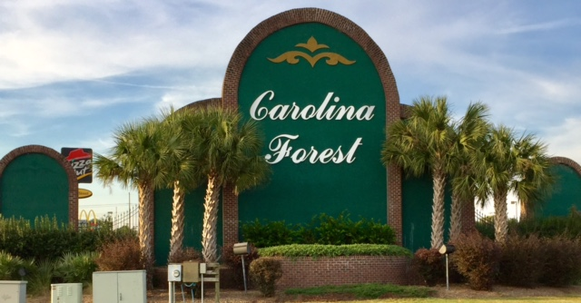 Carolina Forest Sign, SC