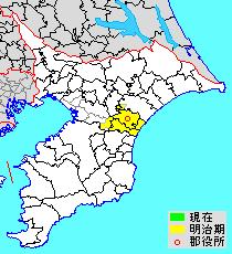 千葉県山辺郡の位置