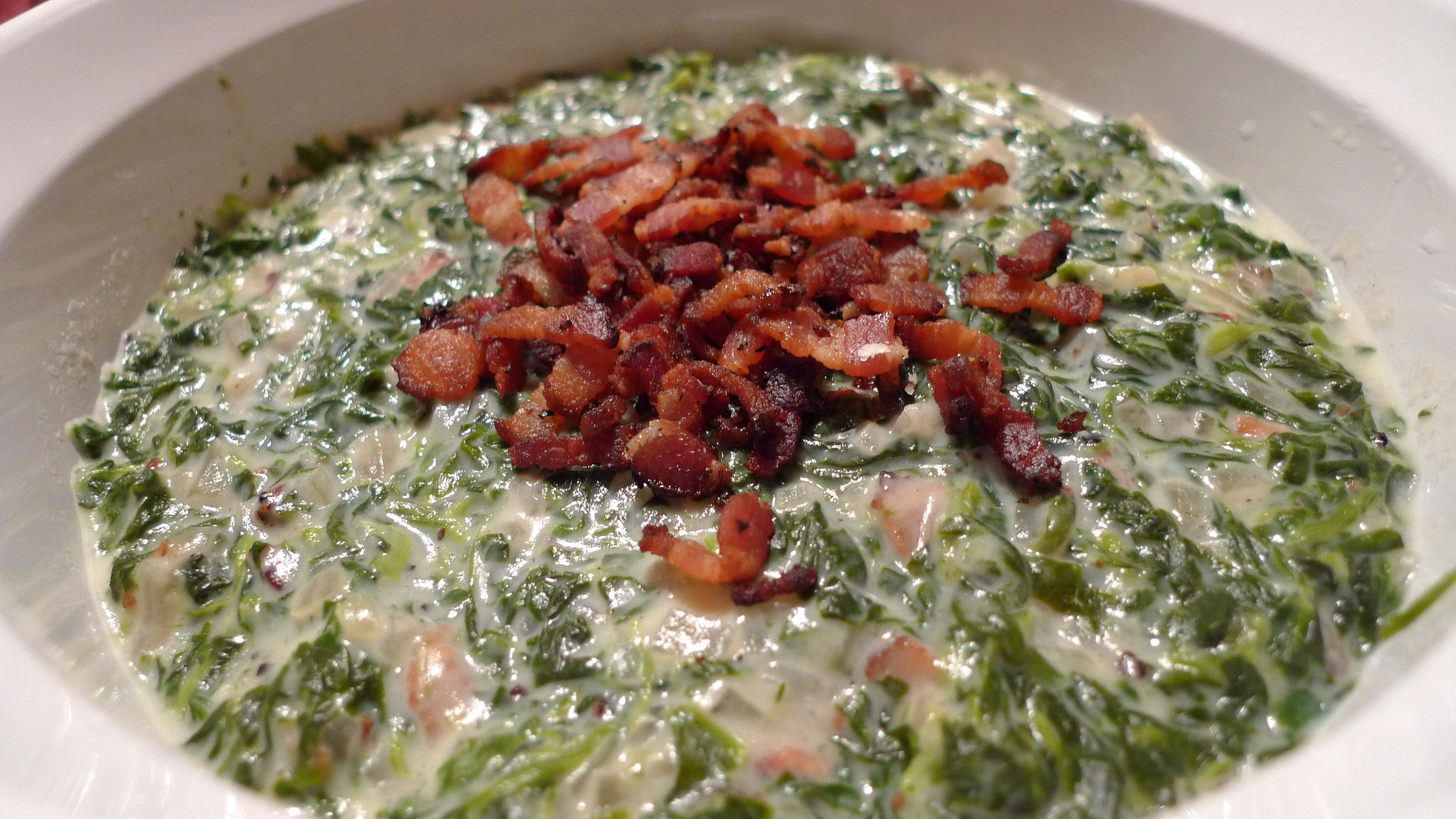 cheese in a bacon pan sauce dressing post image for creamed spinach ...