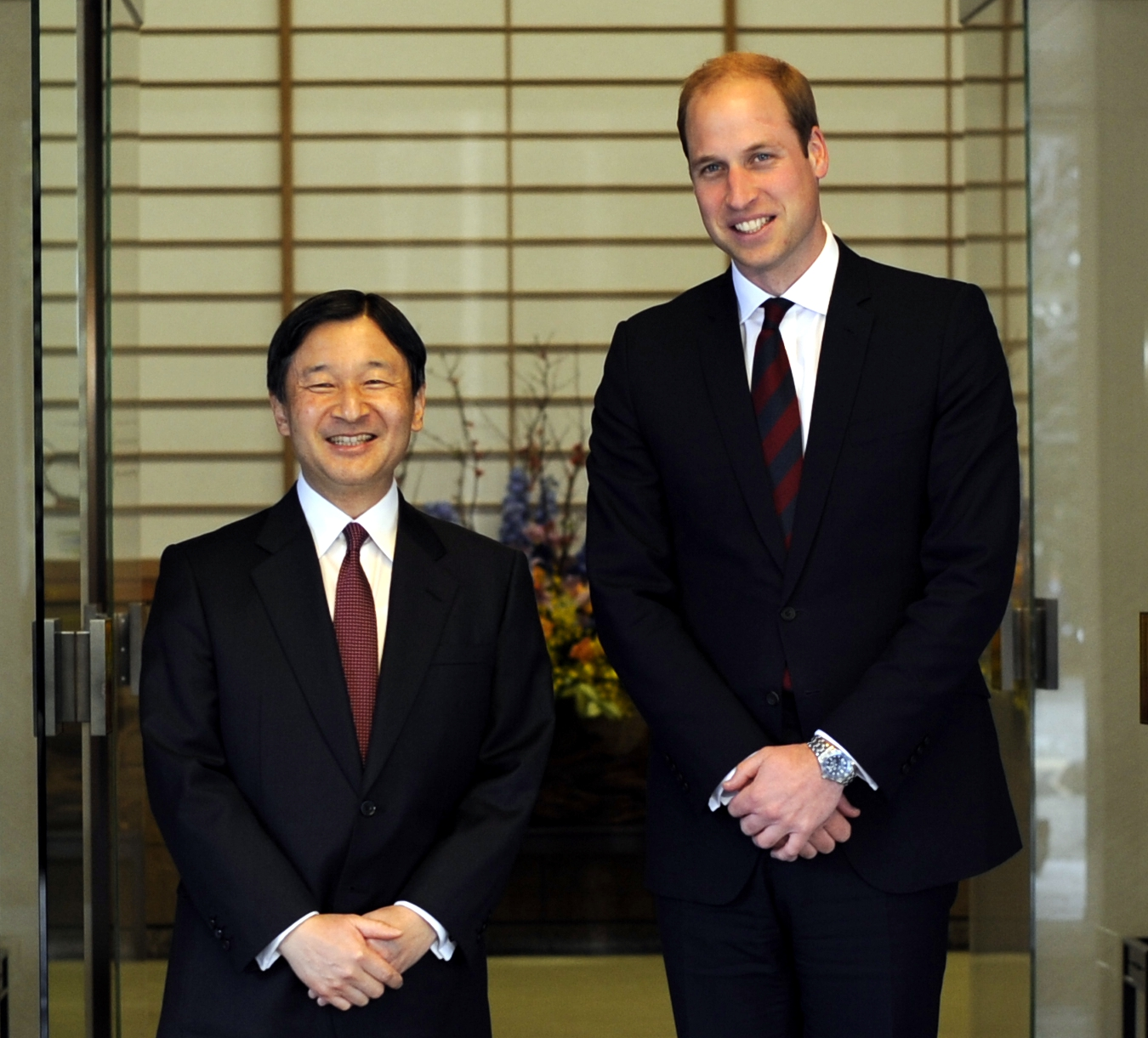 Crown Prince Naruhito and Prince William cropped 2 Crown Prince Naruhito and Prince William 20150227.jpg