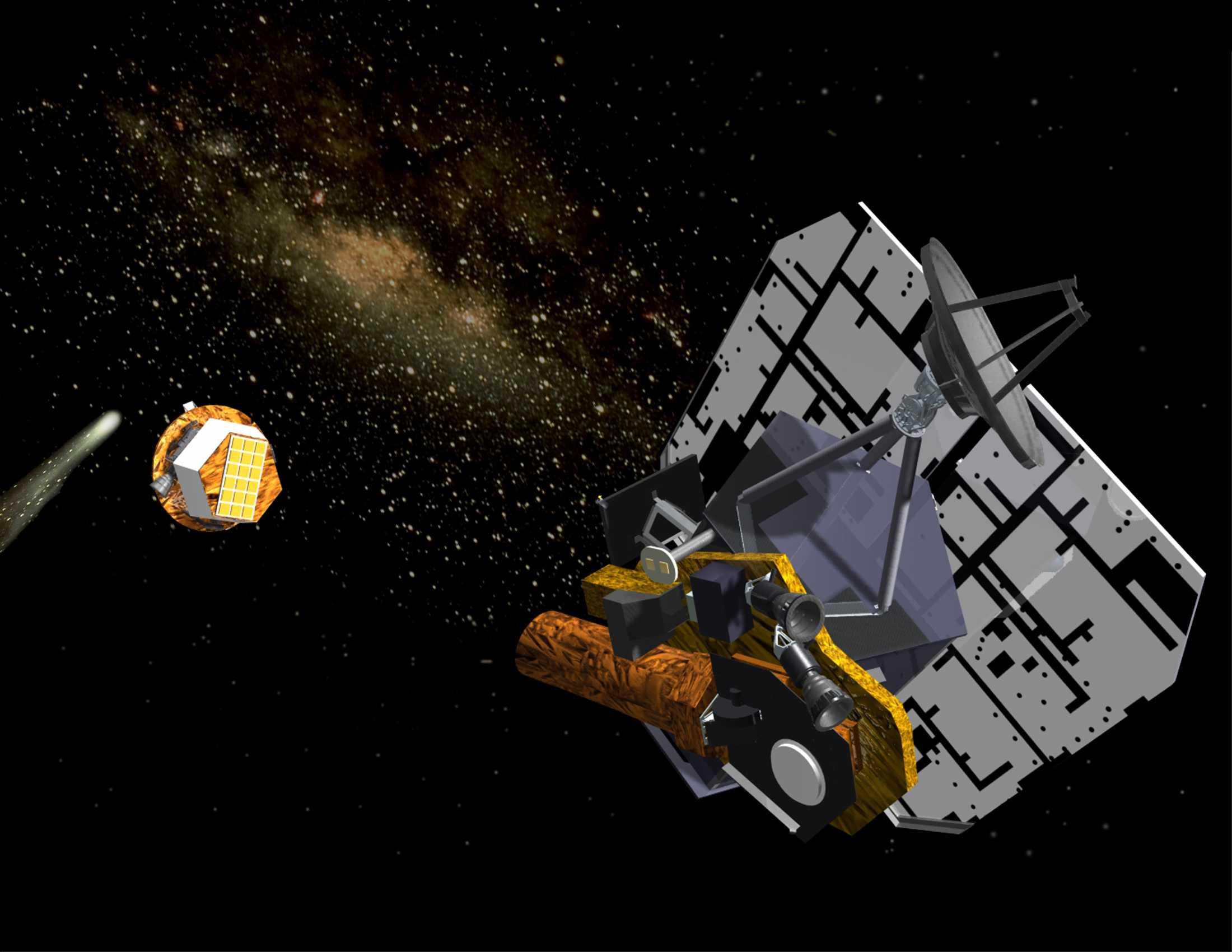 Резултат с изображение за космическа сонда Deep Impact