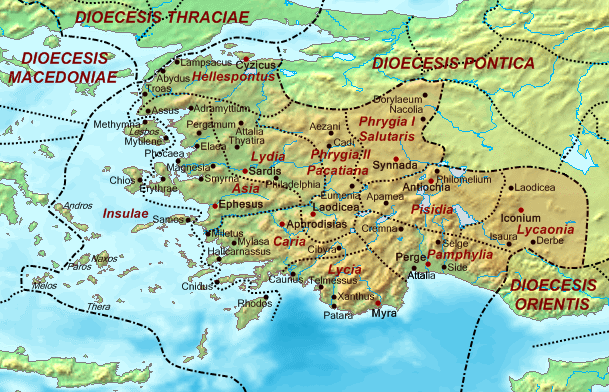 Dioecesis Asiana 400 AD