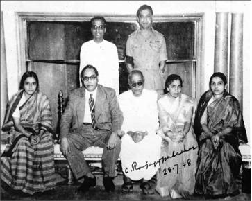 File:Dr. Babasaheb Ambedkar, Dr. Smt. Savita Ambedkar with the first Indian Governor General C. Rajagopalchari and his family members at Rashtrapati Bhavan, New Delhi on July 28, 1948.png