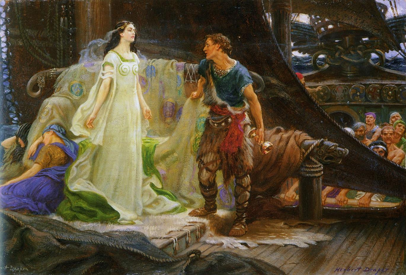Tristan and Iseult as depicted by Herbert Draper (1863 1920).