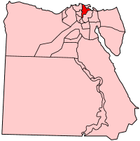 Map of Egypt with Dakahlia highlighted