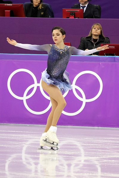 Evgenia Medvedeva at the 2018 Winter Olympic Games - Short program 08.jpg