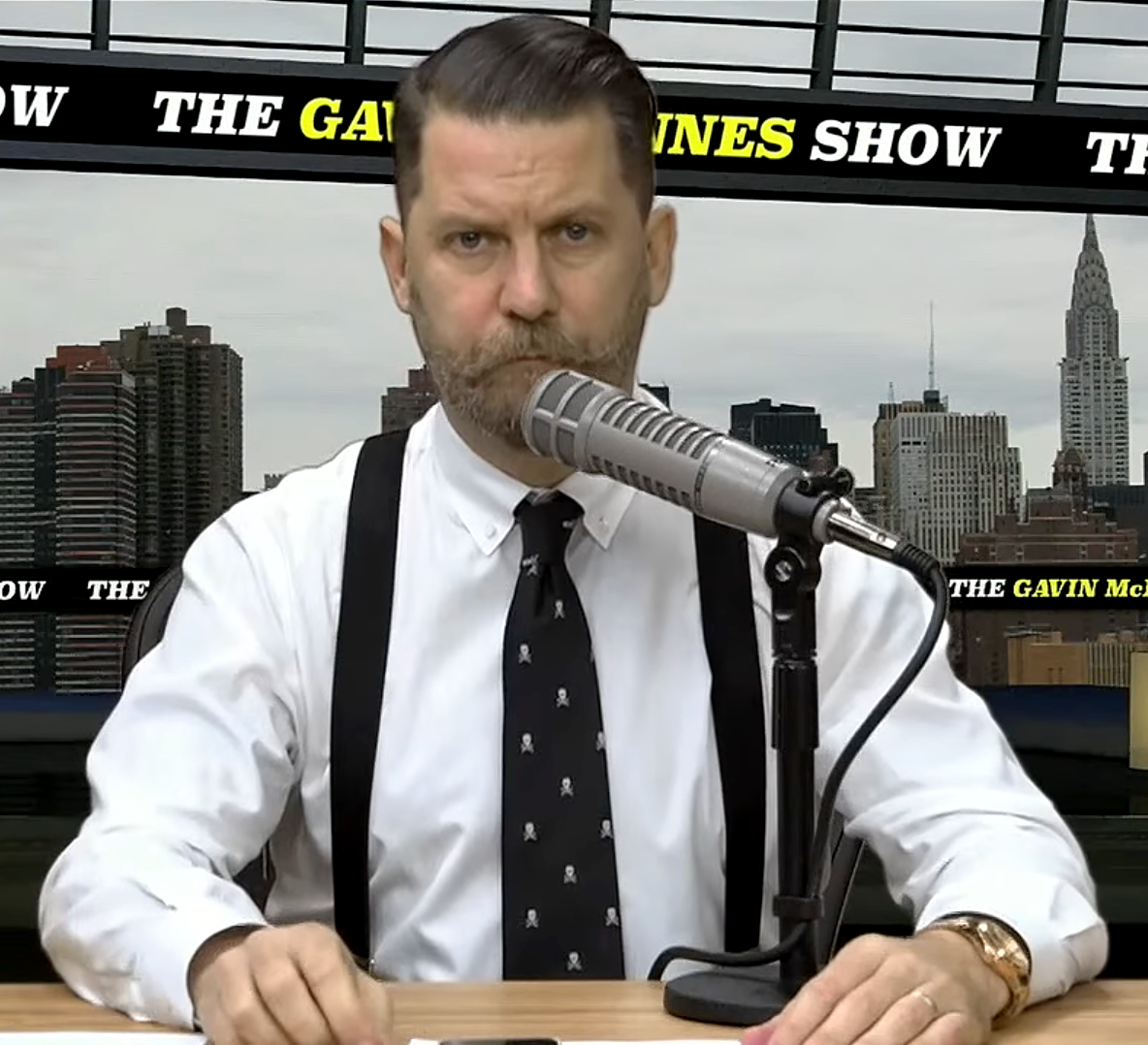 The 48-year old son of father (?) and mother(?) Gavin McInnes in 2018 photo. Gavin McInnes earned a  million dollar salary - leaving the net worth at 6 million in 2018