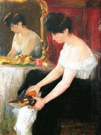 mirror on Girl sitting
