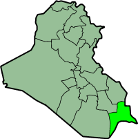 Location of Basra Governorate