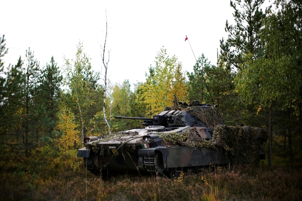Italian Army - 1st Bersaglieri Regiment - Dardo infantry fighting vehicle in Latvia 2019.jpg