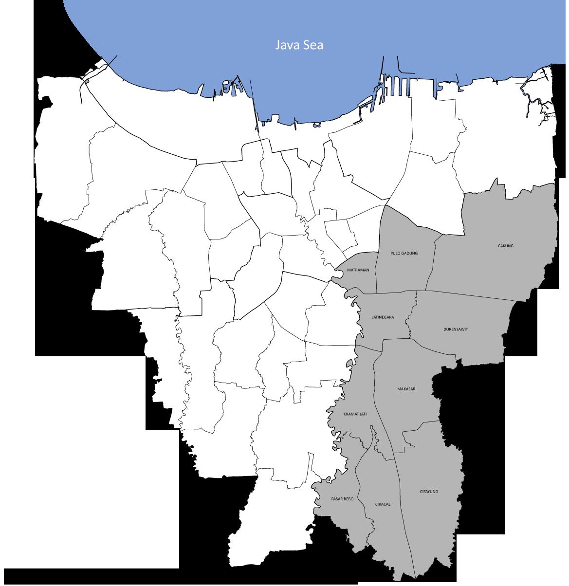 Daftar kecamatan dan kelurahan di Kota Administrasi ...