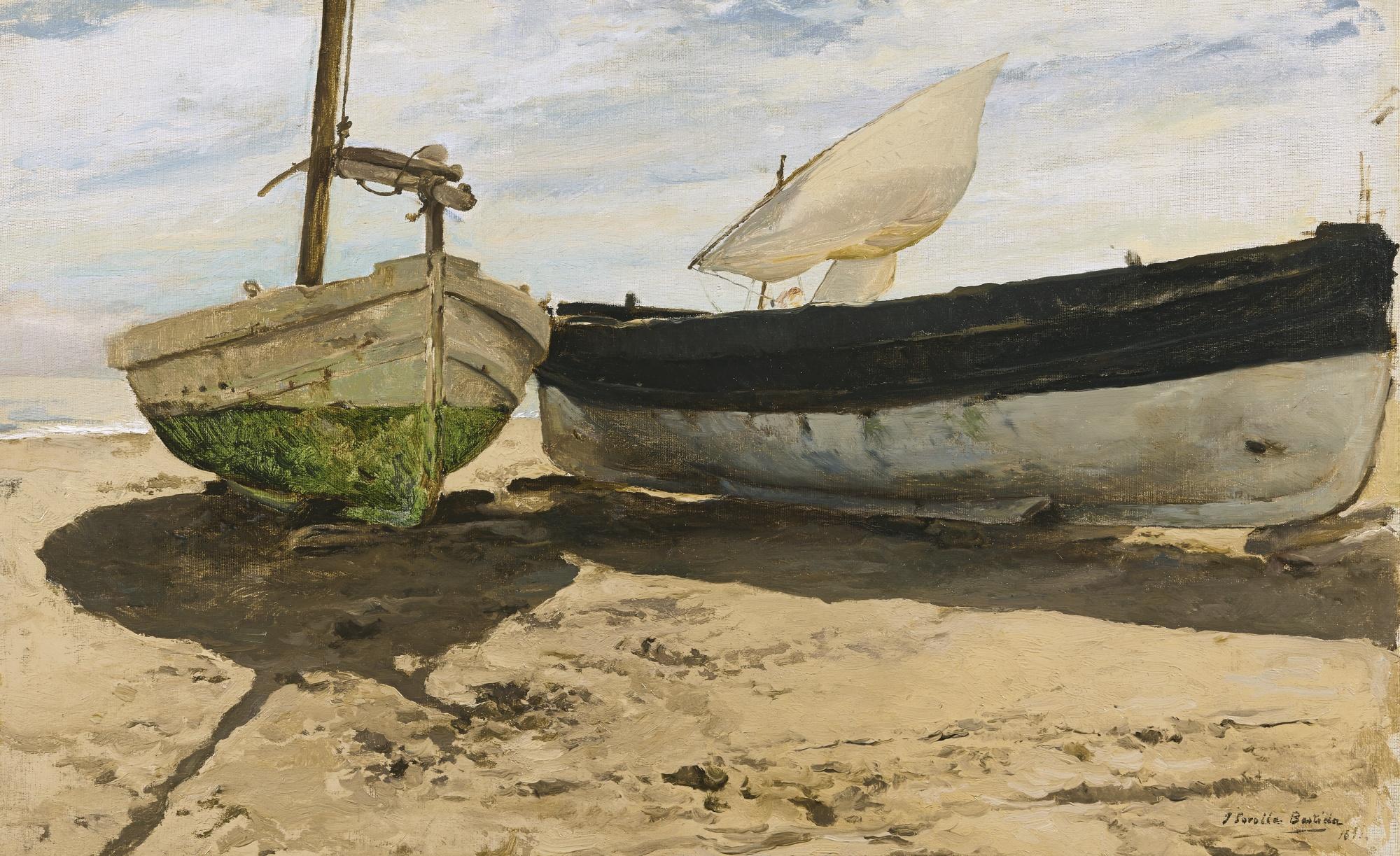 File:Joaquín Sorolla - Barcas en la Playa, Valencia (1894 ...