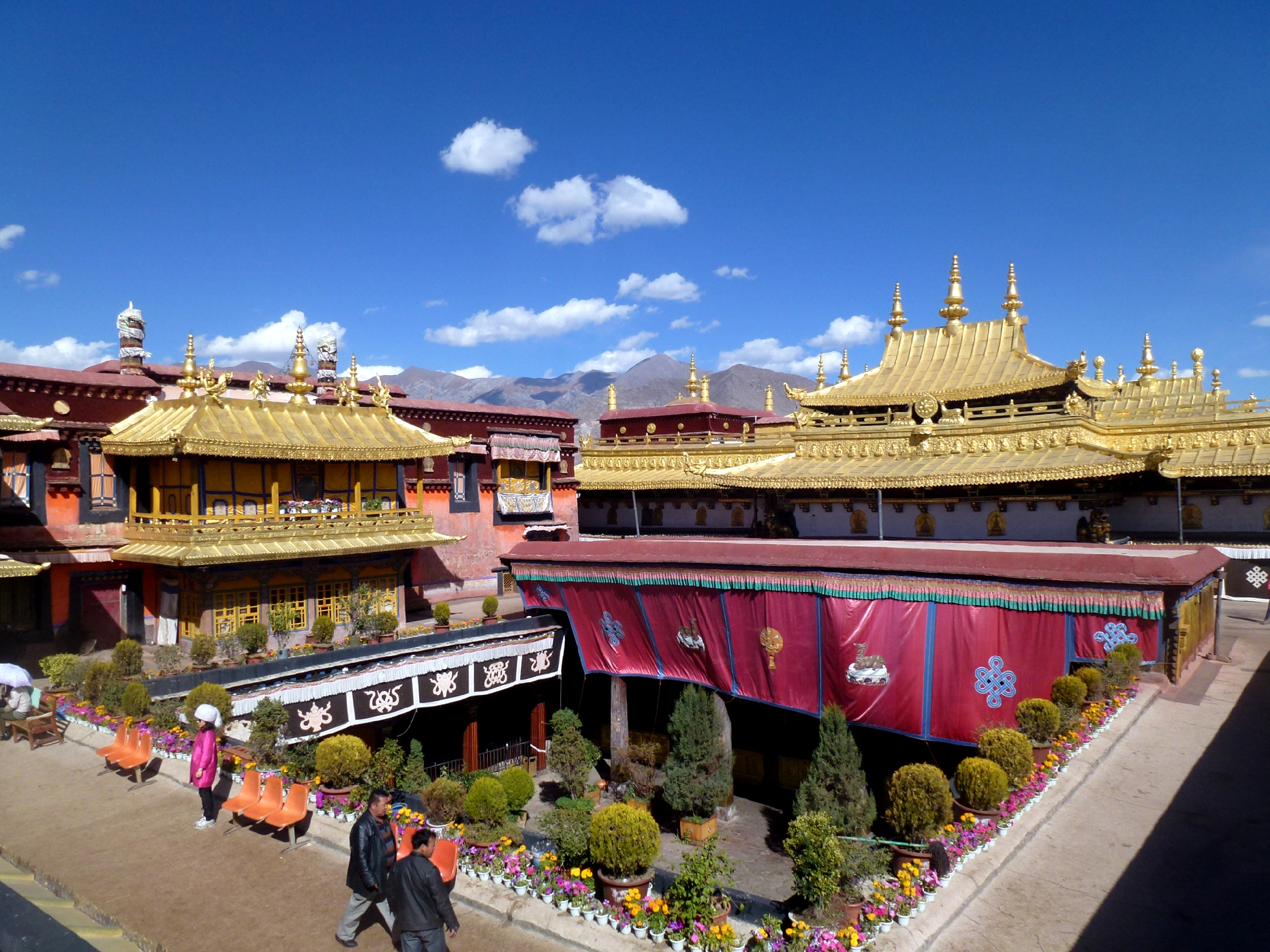 Arial view of Jokhang temple in Bhutan