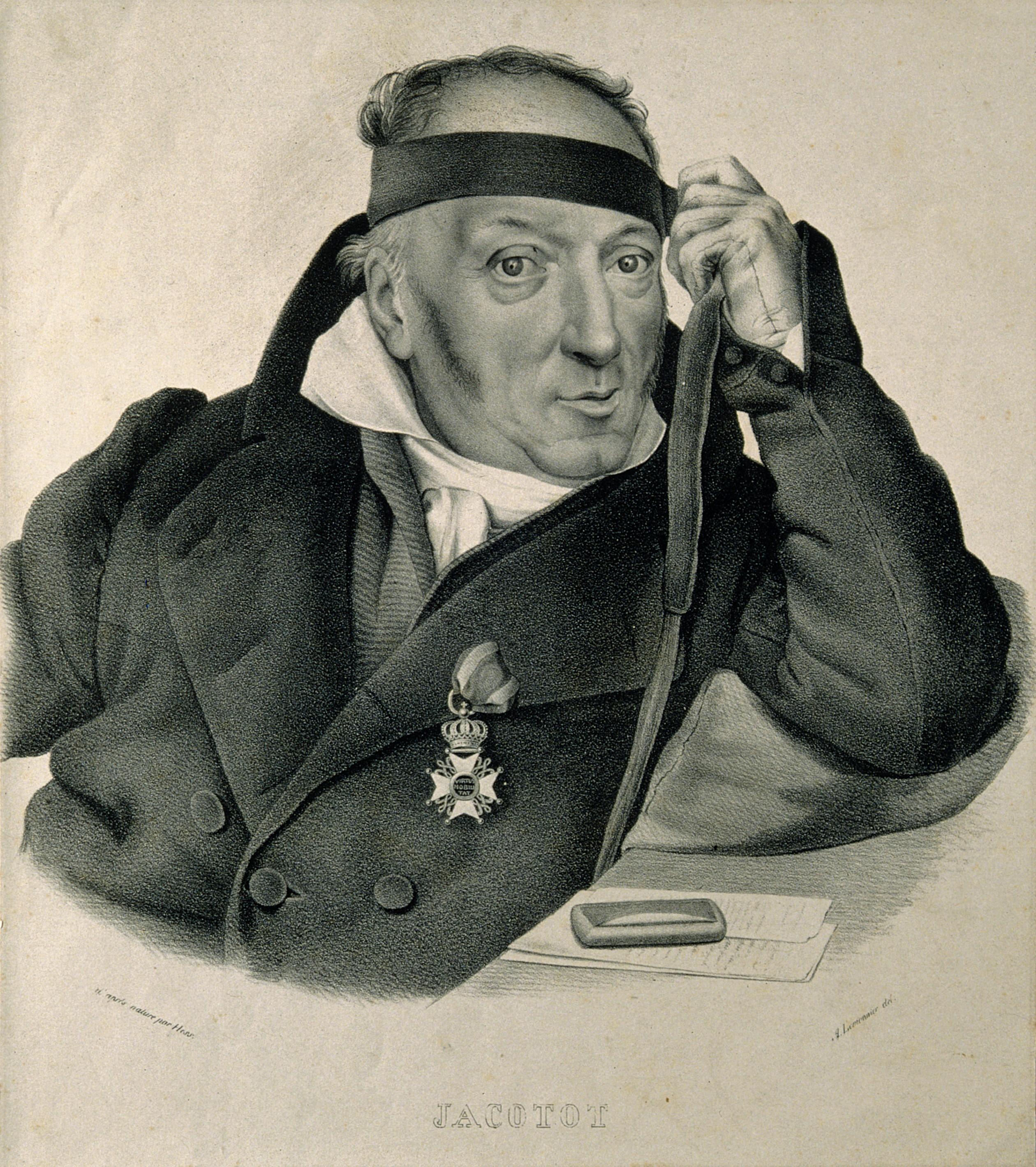 File:Joseph Jacotot. Lithograph by A. Lemonnier after Hess. Wellcome  V0003035.jpg - Wikimedia Commons