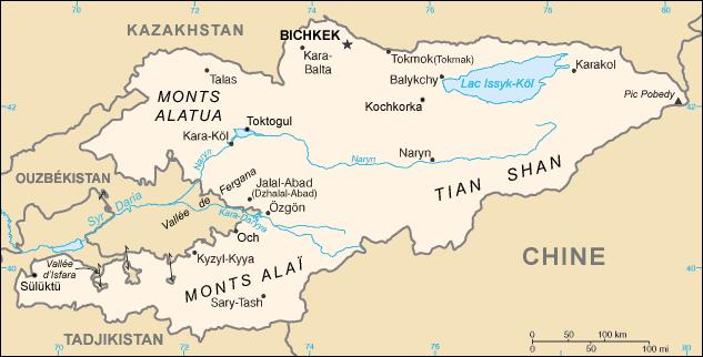 Géographie du Kirghizistan — Wikipédia