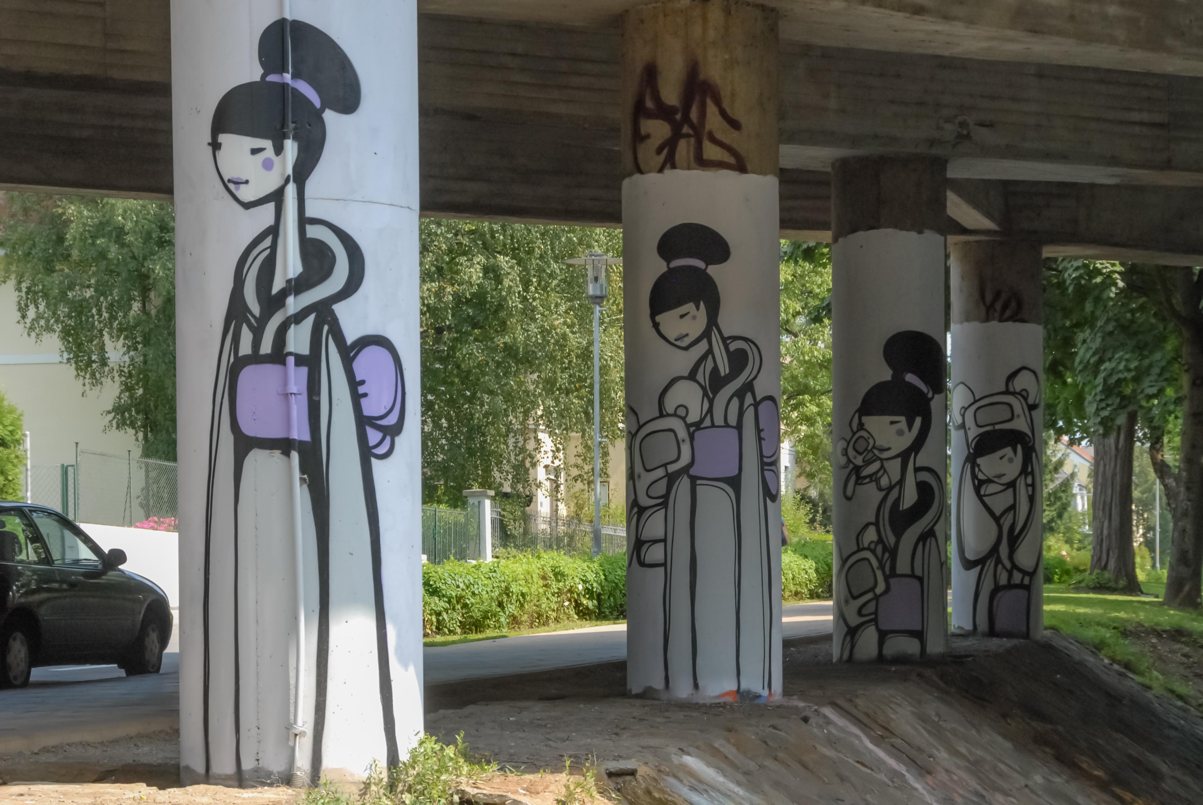 File:Klagenfurt Tarviser Strasse Autobahn-Bruecken-Pfeiler Graffiti  21082008 1410.jpg