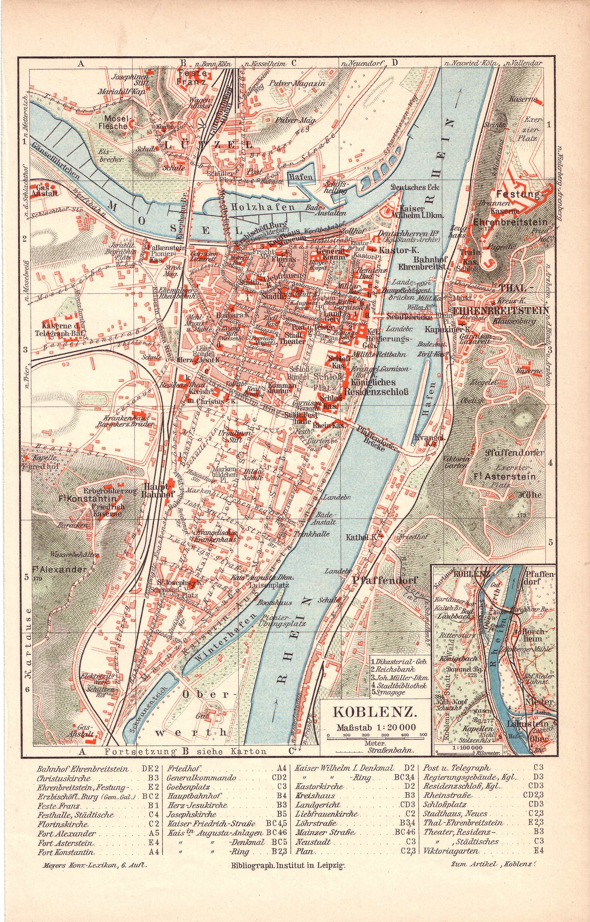 Karte Koblenz.Datei Koblenz Stadtplan 1905 Jpg Wikipedia