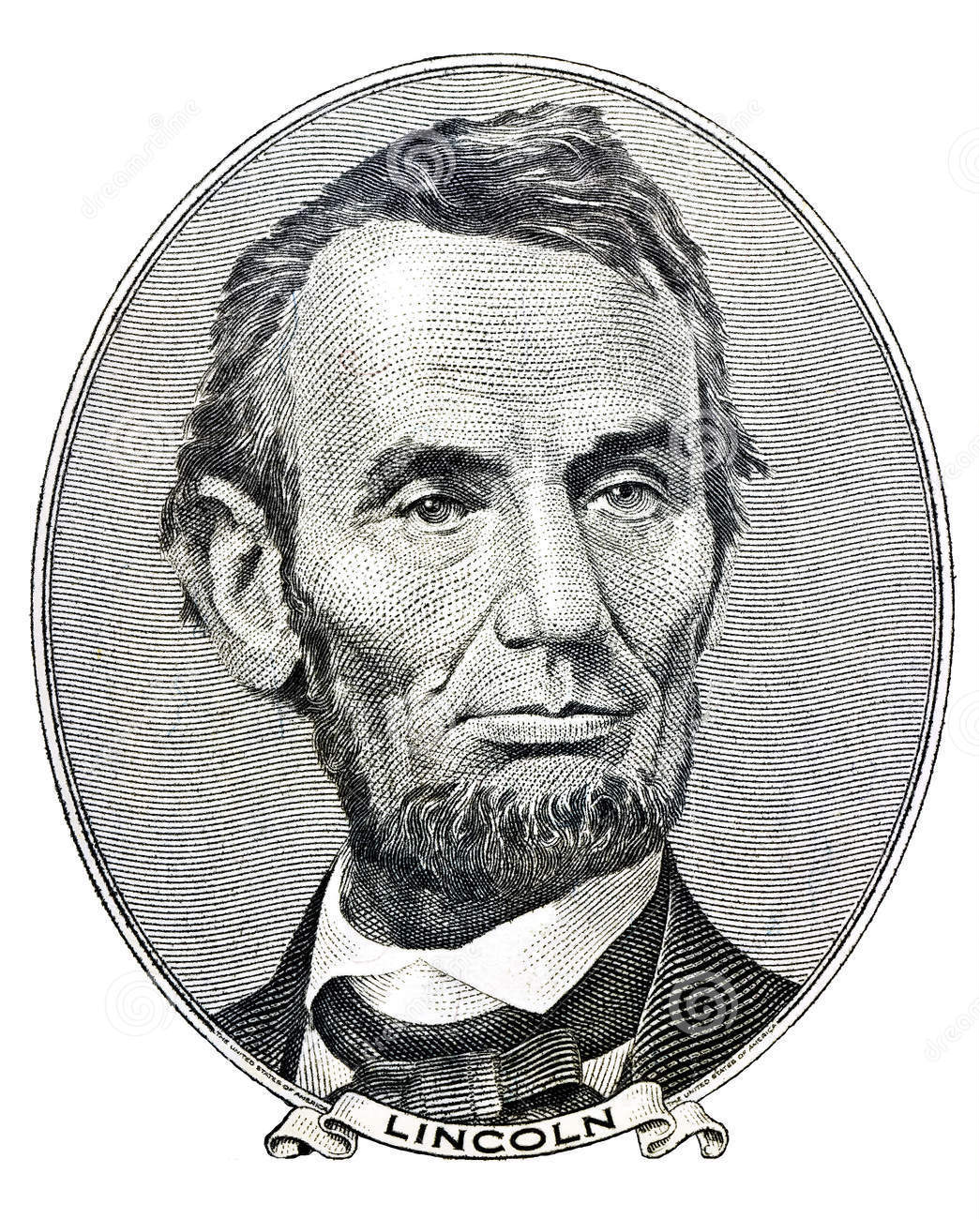 File Lincoln S Face On The 5 Bill Jpg Wikimedia Commons