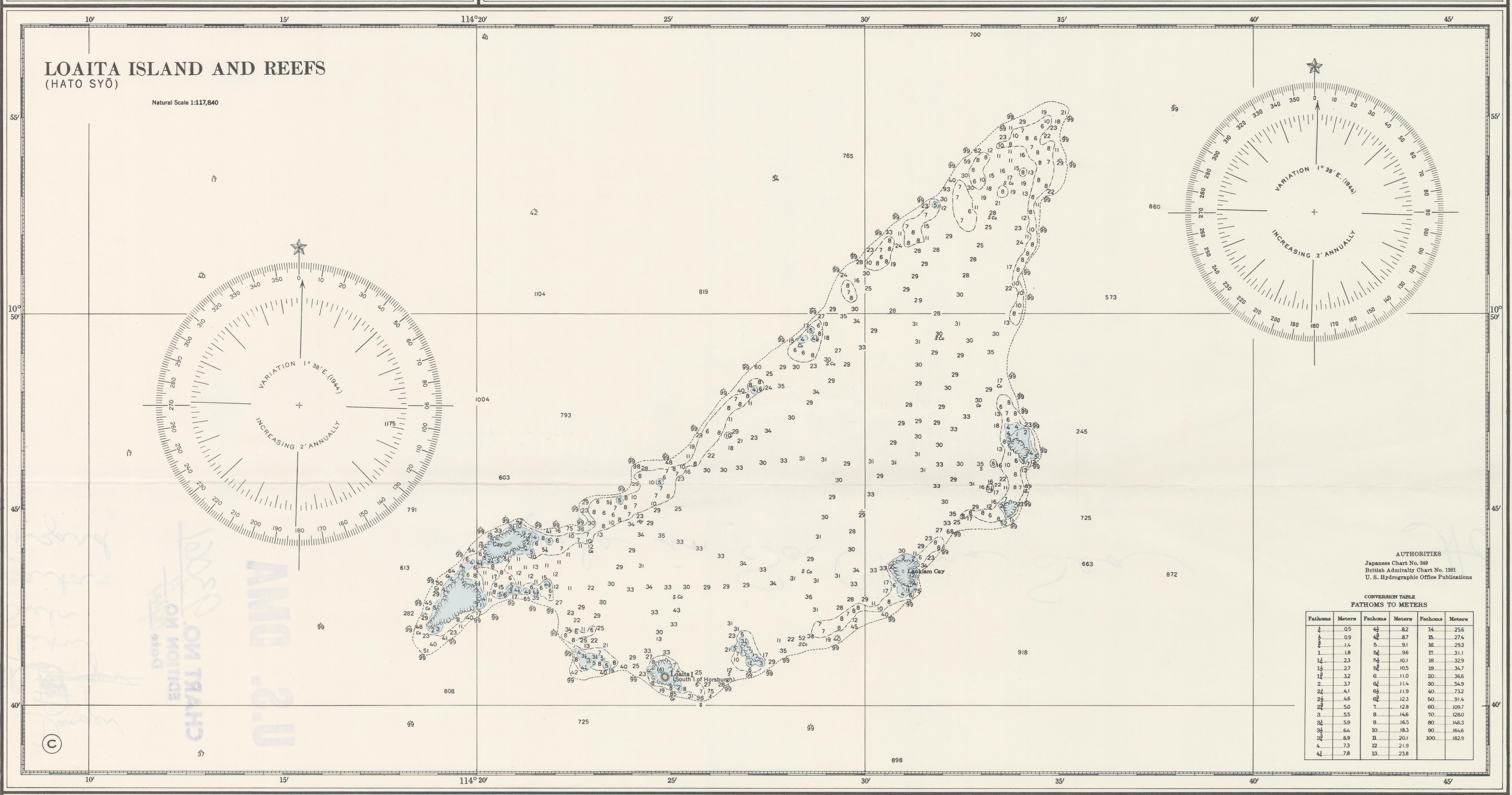 File Loaita Bank Nautical Chart Of 1911 Cropped Jpg Wikimedia Commons