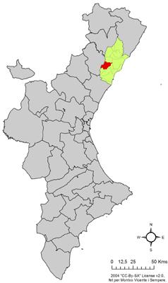 Vị trí của Villafamés