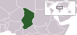 Location of Chad