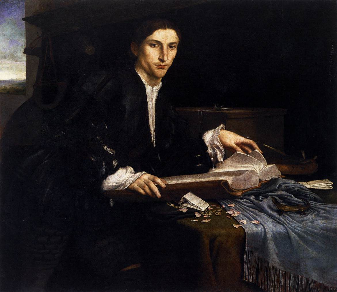 Lorenzo Lotto - Portrait of a Gentleman in his Study - WGA13700.jpg