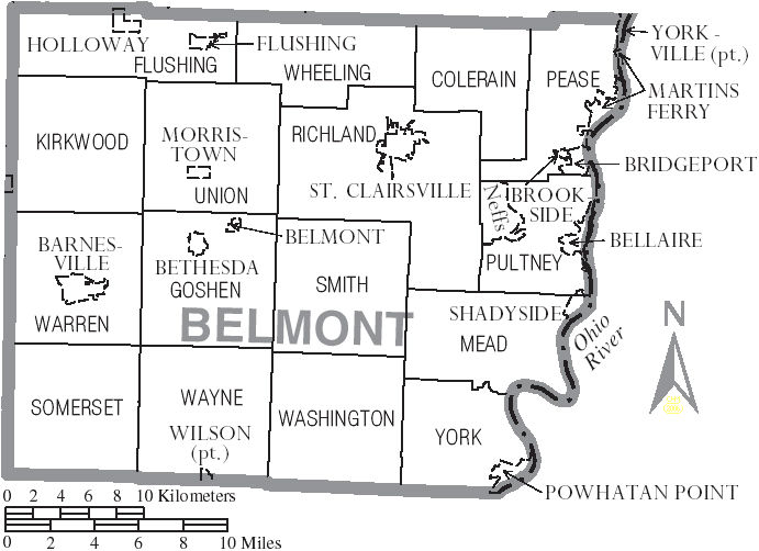 Fichier:Map of Belmont County Ohio With Municipal and Township Labels.PNG