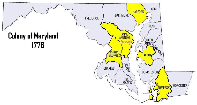 Map Of Maryland Colony Minnesota Map