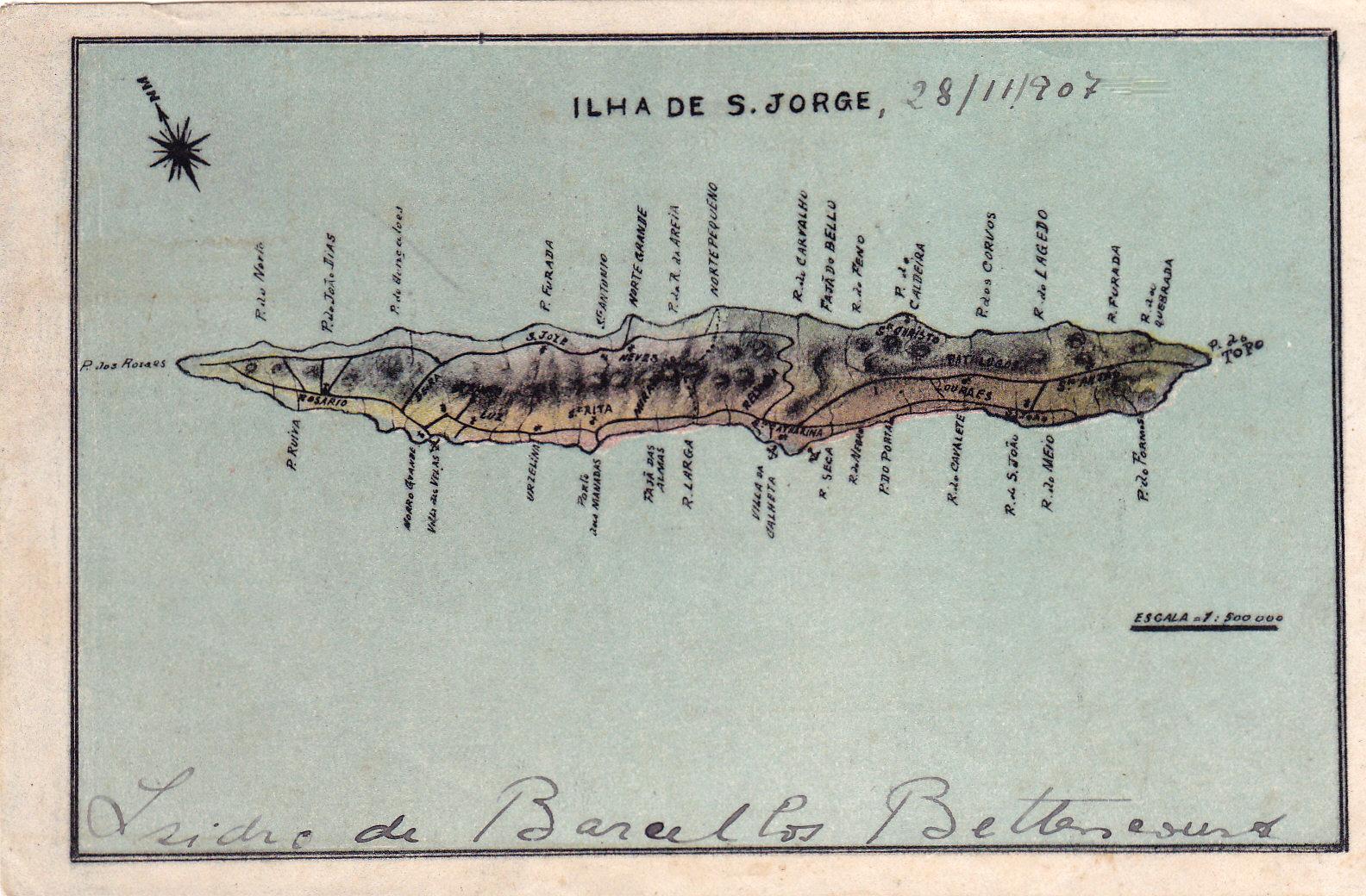 File Mapa Antigo Ilha De Sao Jorge Acores Arquivo De Villa