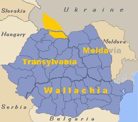 Region Marmarosz na mapie Rumunii.