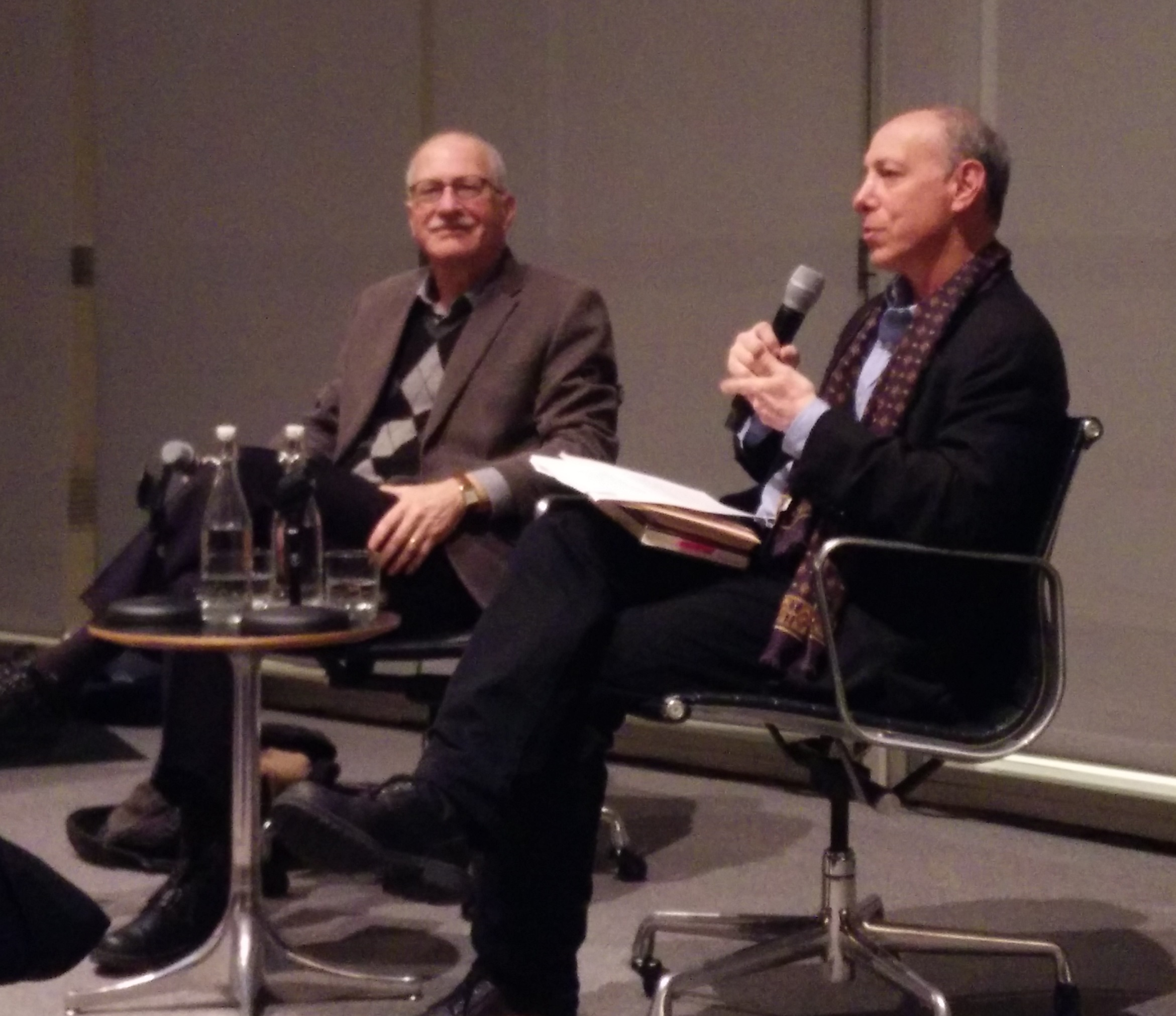 Jay (left) and [[Richard Wolin]] at the [[Graduate Center, CUNY]], in 2016