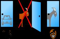 Illustration for Monty Hall problem