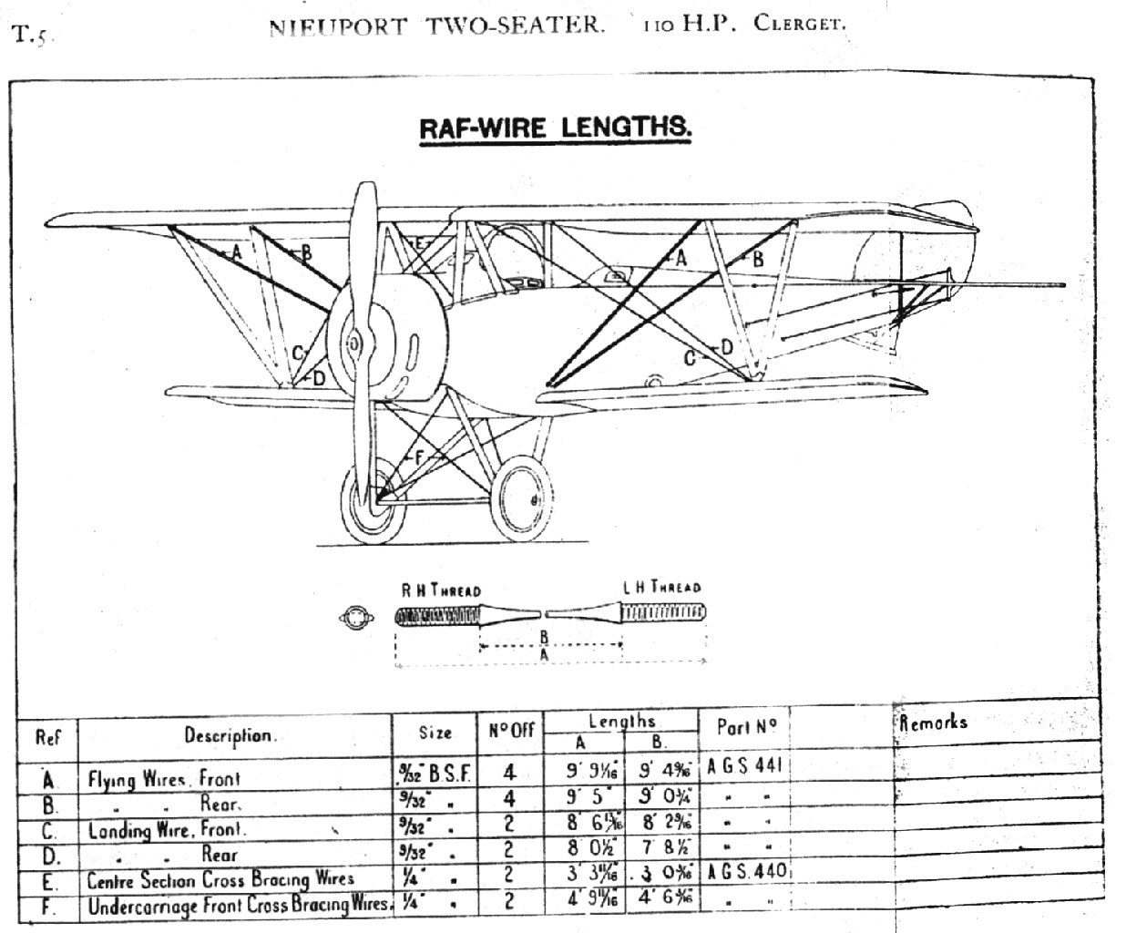 File Nieuport 12 Rigging Diagram - Cable Lengths Jpg