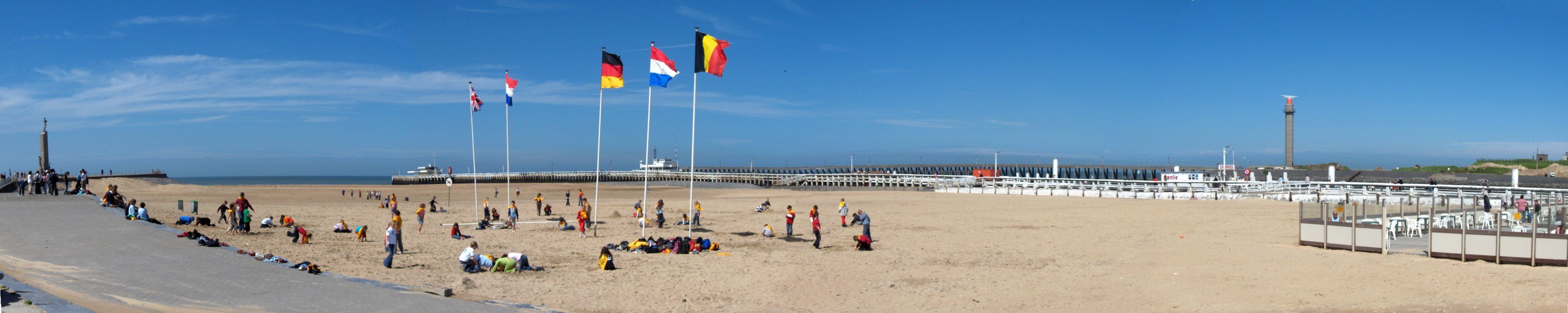 Ostend Beach And The Promenade Pier Panoramic View