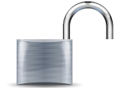 English: open padlock icon