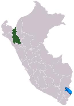 Cajamarca locator map