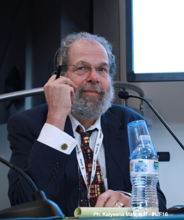 Peter Laufer in Perugia, Italy in 2016