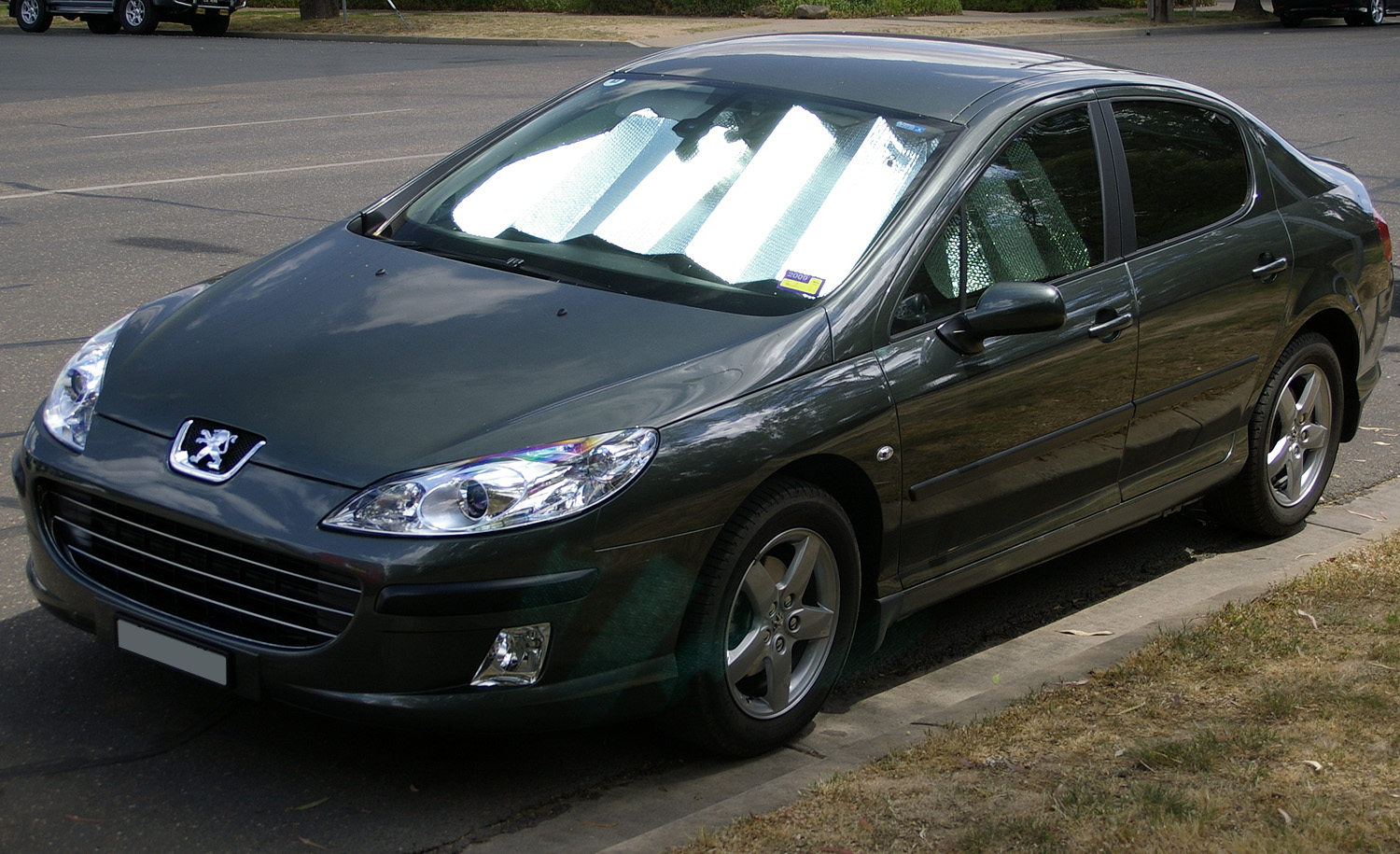 file peugeot 407 hdi front view jpg wikimedia commons. Black Bedroom Furniture Sets. Home Design Ideas